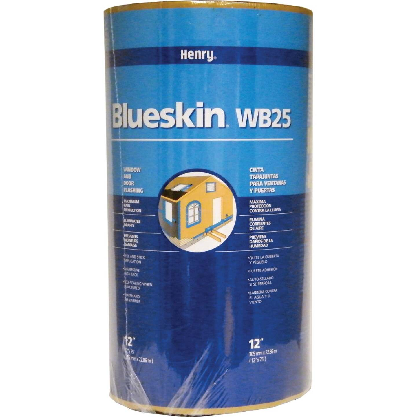 Henry Blueskin WB25 12 In. X 75 Ft. Window Wrap & Flashing Tape Image 1