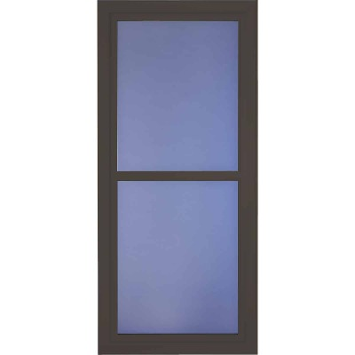 Larson Easy Vent 146 Series 36 In. W x 81 In. H x 1-7/8 In. Thick Brown Full View Aluminum Storm Door