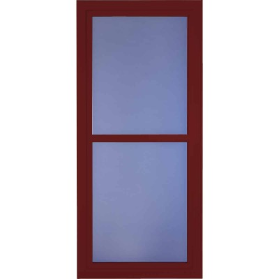 Larson Easy Vent 146 Series 36 In. W x 81 In. H x 1-7/8 In. Thick Cranberry Full View Aluminum Storm Door