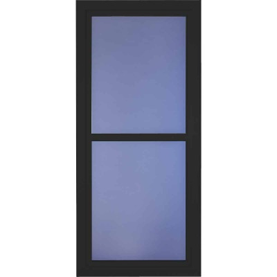 Larson Easy Vent 146 Series 36 In. W x 81 In. H x 1-7/8 In. Thick Black Full View Aluminum Storm Door