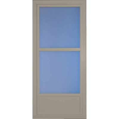 Larson Easy Vent 146 Series 36 In. W x 81 In. H x 1-7/8 In. Thick Sandstone Mid View Aluminum Storm Door