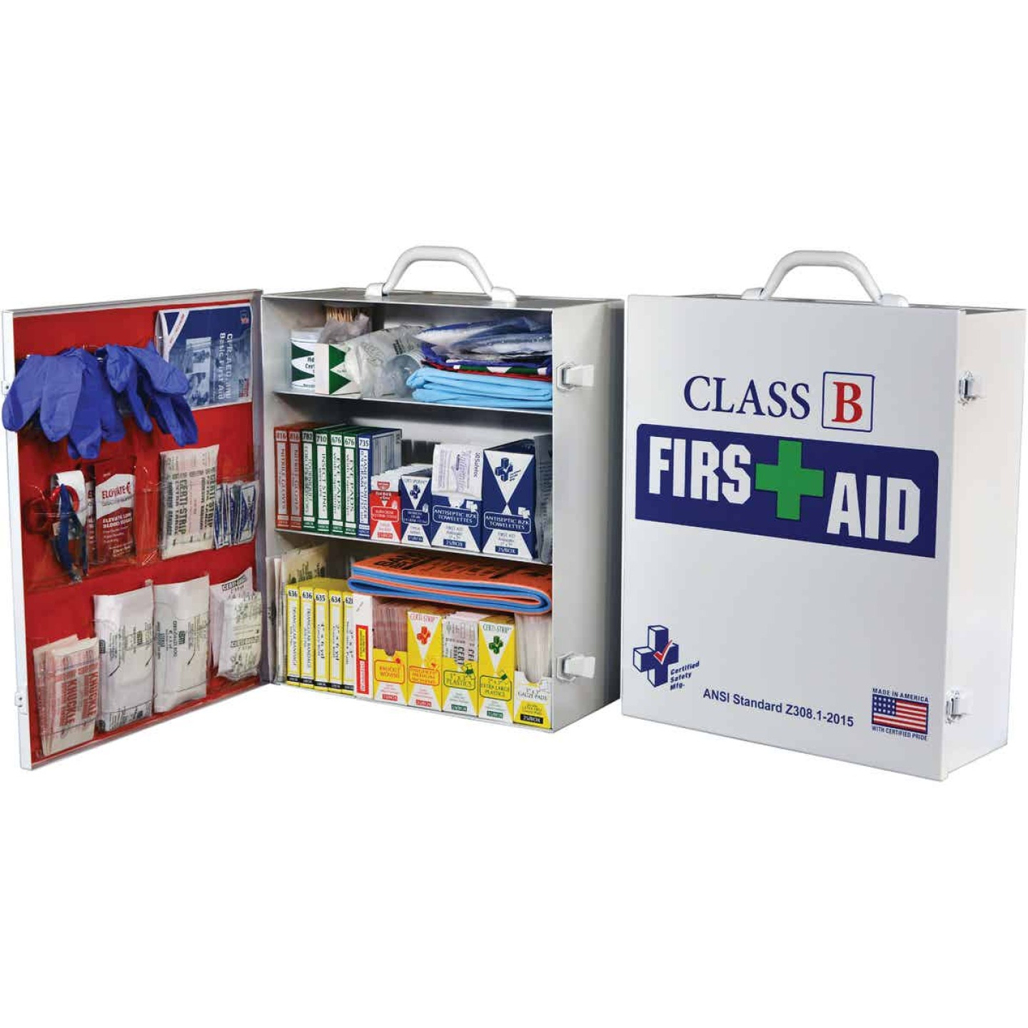 Certified Safety Class B ANSI & OSHA Certified Cabinet First Aid Kit (379-Piece) Image 1