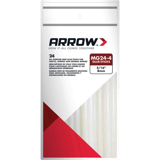 Arrow 4 In. Mini Clear Hot Melt Glue (24-Pack)