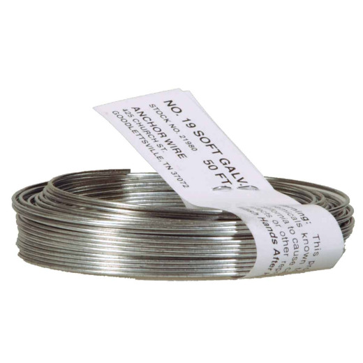HILLMAN Anchor Wire 50 Ft. 19 Ga. Black StovePipe And Mechanics General-Purpose Wire