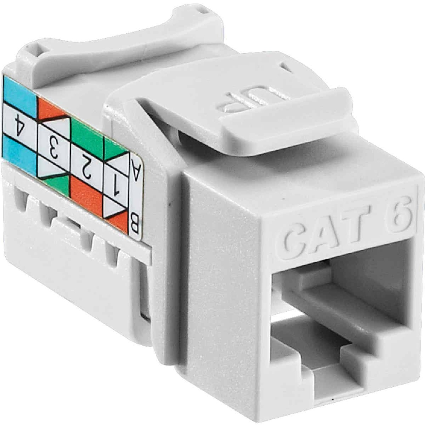 Leviton White 8-Conductor Cat-6 Connector Jack Image 1