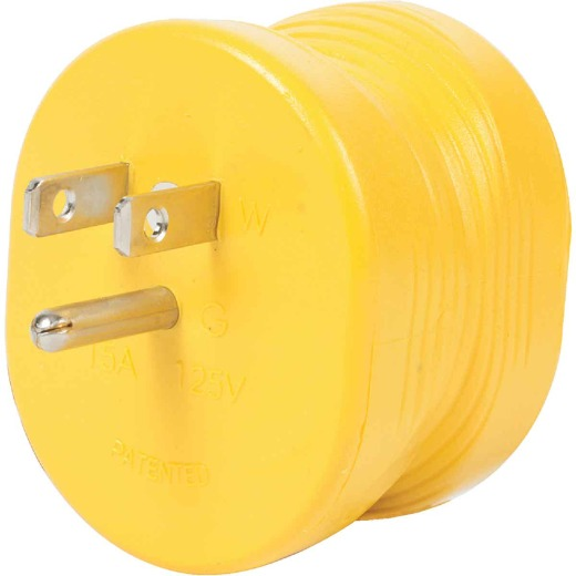 Camco Power Grip 15A Male to 30A Female RV Plug Adapter