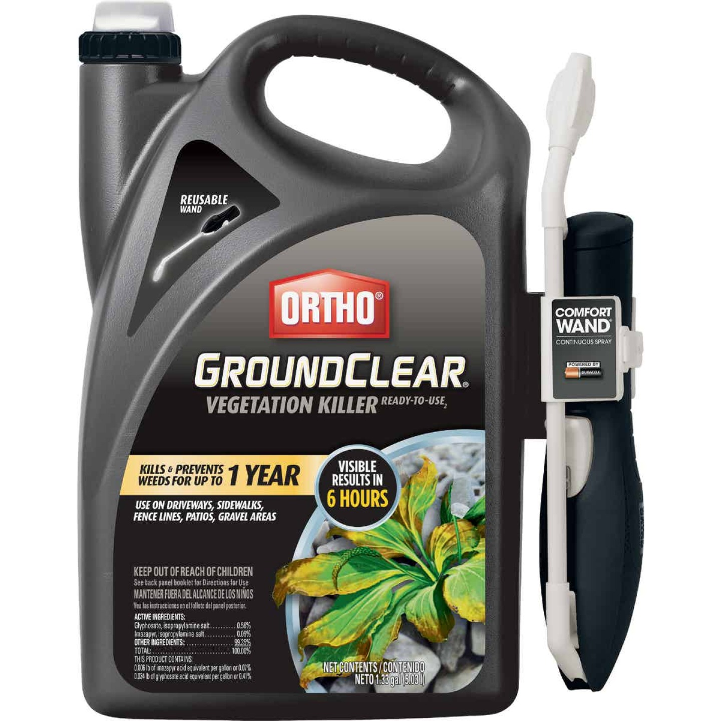 Ortho GroundClear 1.33 Gal. Ready To Use Vegetation Killer with Comfort Wand Image 1