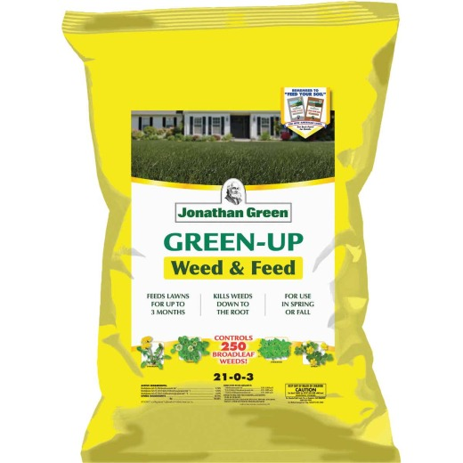 Jonathan Green Green-Up Weed & Feed 46 Lb. 15,000 Sq. Ft. 21-0-3 Lawn Fertilizer with Weed Killer