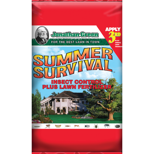 Jonathan Green Summer Survival 51 Lb. 15,000 Sq. Ft. 13-0-3 Lawn Fertilizer with Insecticide