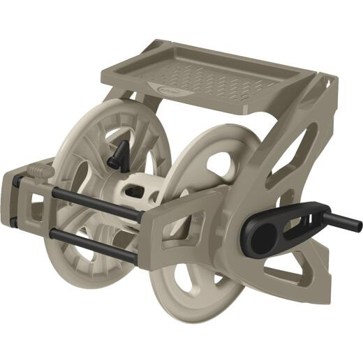 Suncast Slide Trak Hosemobile 175 Ft. x 5/8 In. Taupe Resin Hose Reel