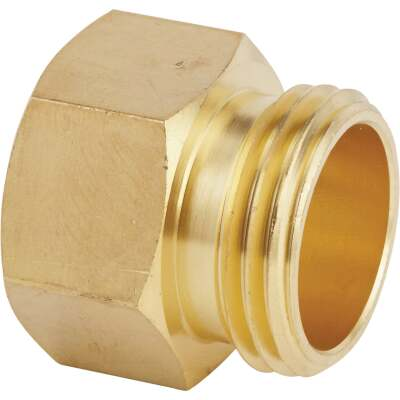 Best Garden 3/4 In. MNH x 3/4 In FNPT Brass Non-Swivel Hose Connector