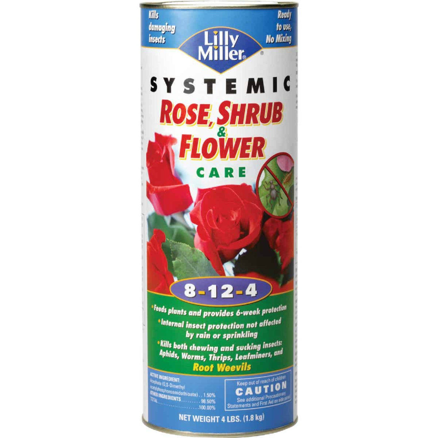 Lilly Miller 4 Lb. 8-12-4 Systemic Rose & Flower Care Dry Plant Food Image 1