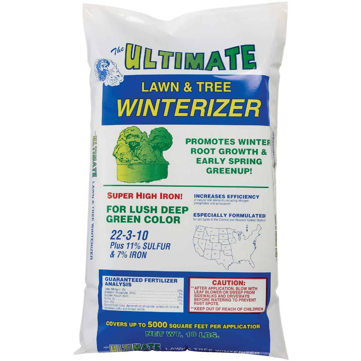 Ultimate 18 Lb. 5000 Sq. Ft. 22-3-10 Lawn And Tree Winterizer Fall Fertilizer Image 2