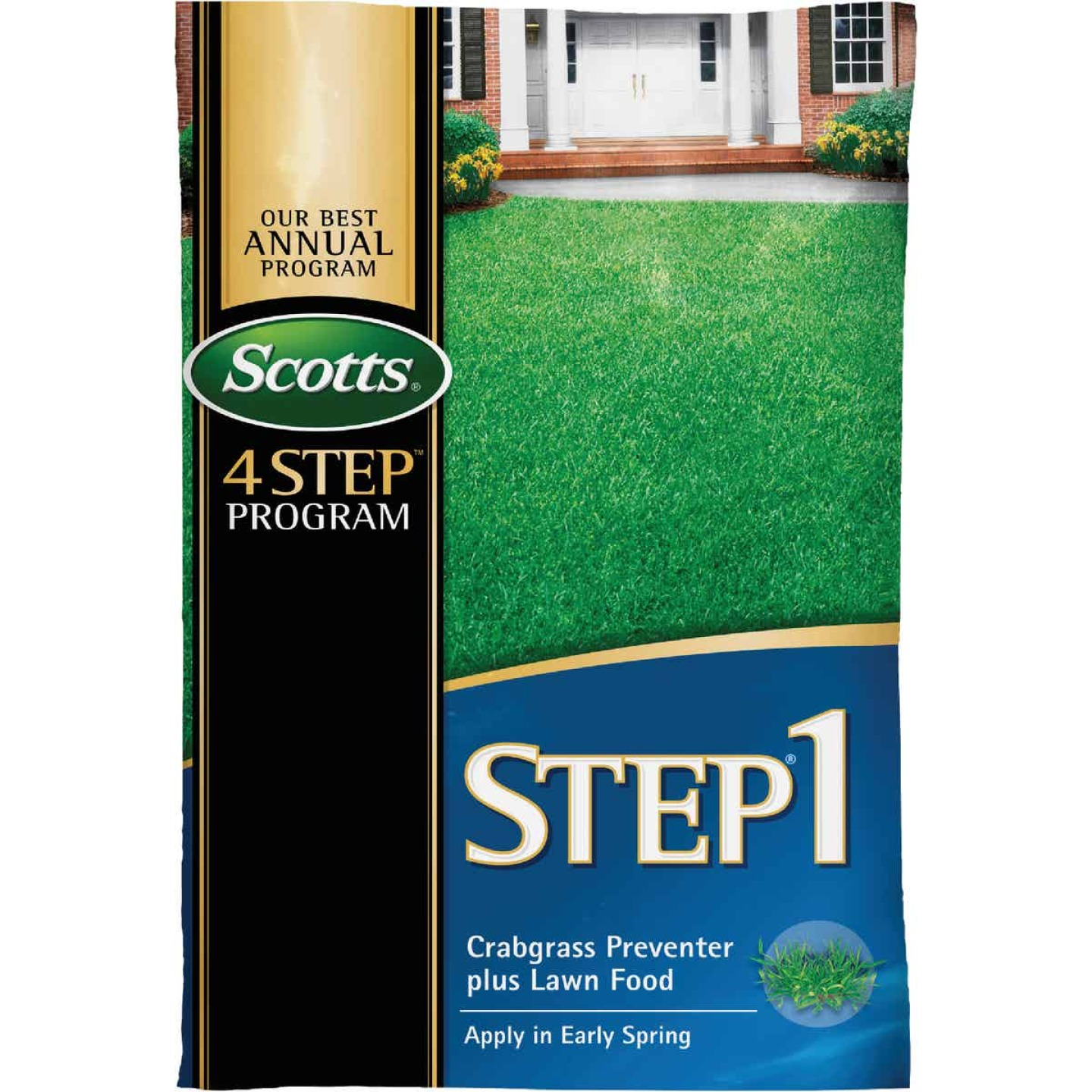 Scotts 4-Step Program Step 1 13.46 Lb. 5000 Sq. Ft. 28-0-7 Lawn Fertilizer with Crabgrass Preventer Image 1