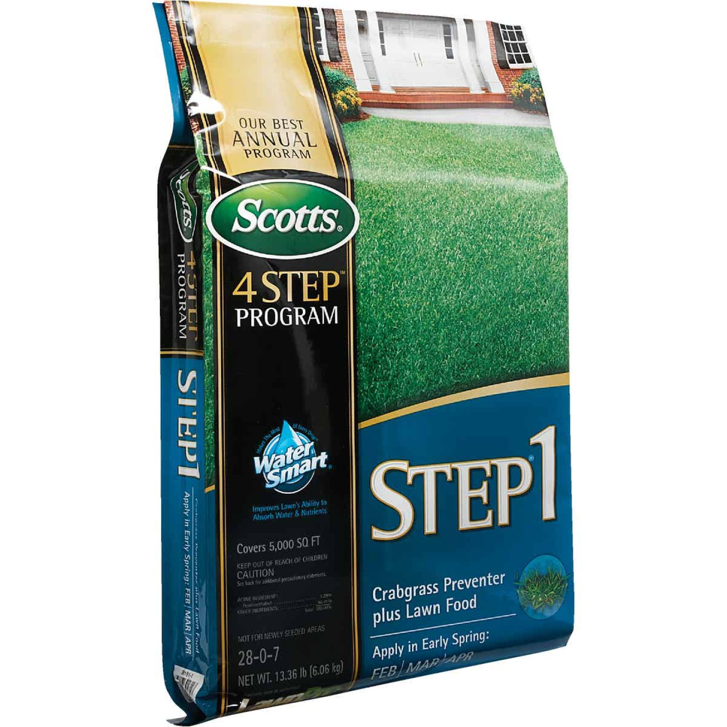 Scotts 4-Step Program Step 1 13.46 Lb. 5000 Sq. Ft. 28-0-7 Lawn Fertilizer with Crabgrass Preventer Image 8