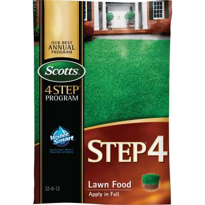 Scotts 4-Step Program Step 4 12.50 Lb. 5000 Sq. Ft. 32-0-12 Fall Lawn Fertilizer