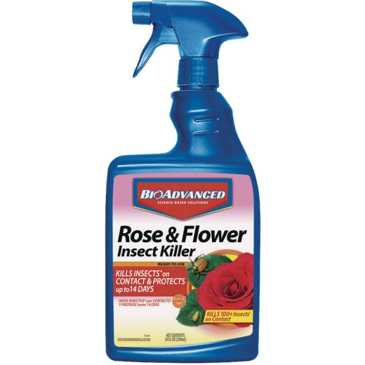 BioAdvanced 24 Oz. Ready To Use Trigger Spray Flower & Rose Insect Killer