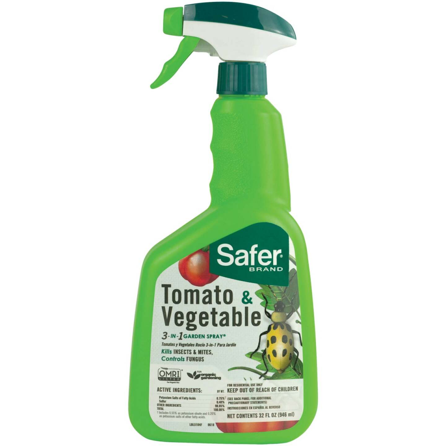 Safer 3-In-1 32 Oz. Ready To Use Trigger Spray Tomato & Vegetable Insect Killer Image 1