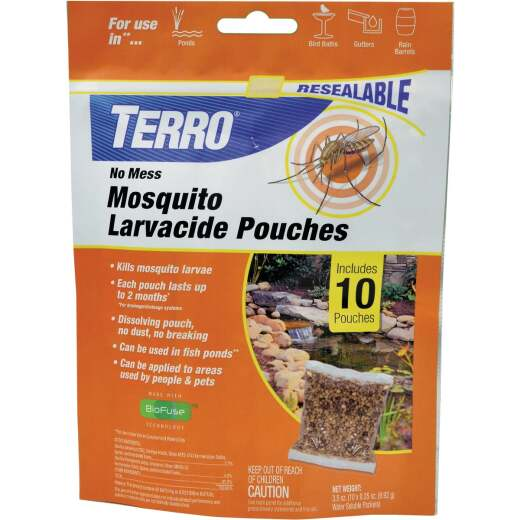 Terro No Mess Ready To Use Pouch Mosquito Larvacide Killer (10-Pack)