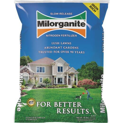 Milorganite 32 Lb. 2500 Sq. Ft. 6-4-0 Slow-Release Nitrogen Lawn Fertilizer