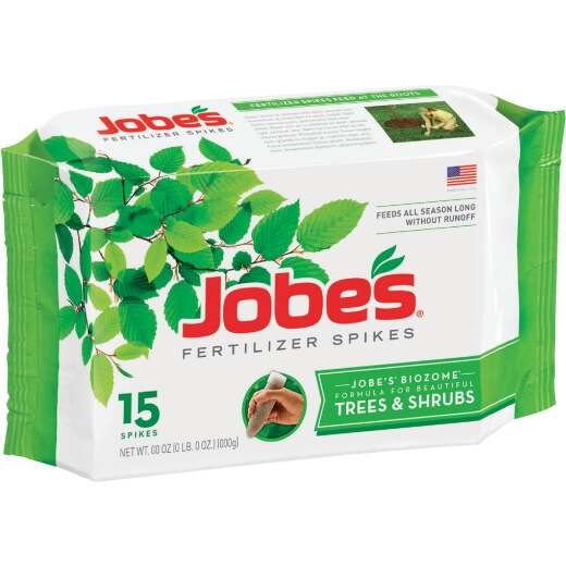 Jobe's 16-4-4 Tree & Shrub Fertilizer Spikes (15-Pack)