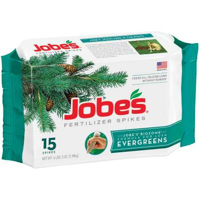 Jobe's Evergreen 13-3-4 Tree & Shrub Fertilizer Spikes (15-Pack)