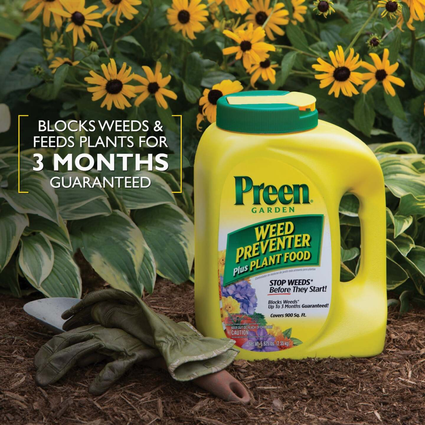 Preen 5.625 Lb. Ready To Use Granules Garden Weed Preventer Plus Plant Food Image 3