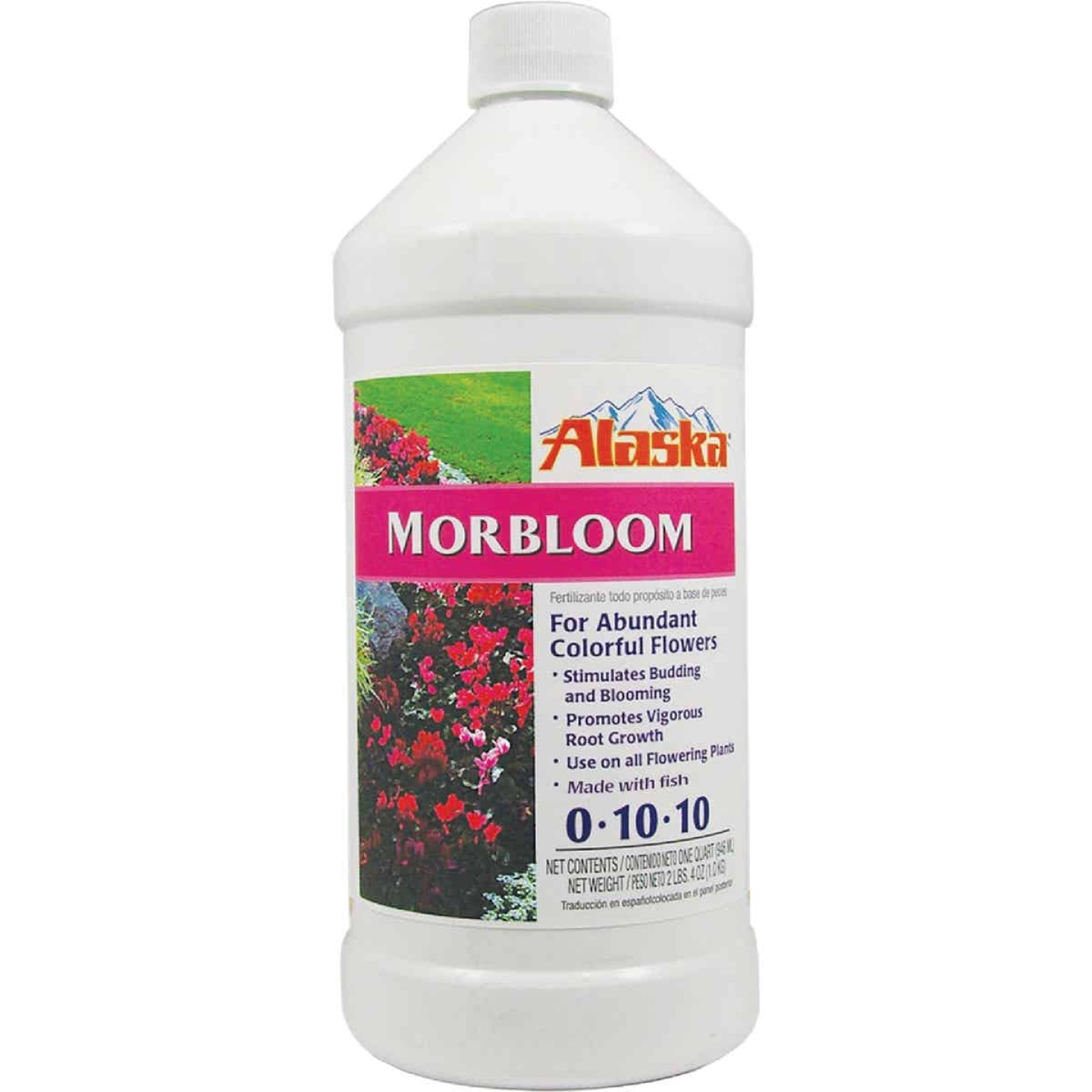 Alaska Morbloom 32 Oz. 0-10-10 Concentrated Liquid Plant Food Image 1