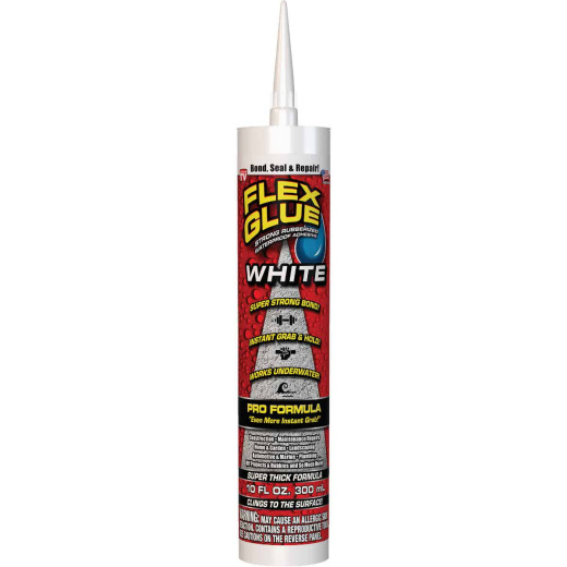 Flex Glue Pro Formula 10 Oz. White Multi-Purpose Adhesive