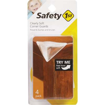 Safety 1st Clearly Soft Adhesive Gel Corner Guards (4-Pack)
