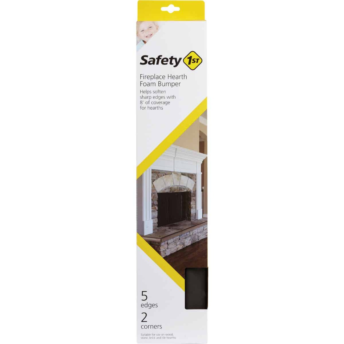 Safety 1st Adhesive Foam Brown Fireplace Guard Foam Bumper Image 3