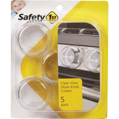 Safety 1st Clear View Plastic Stove Knob Covers (5-Pack)